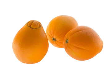 Three navel oranges