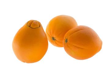 Three navel oranges