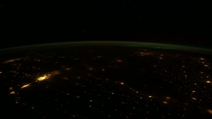 Space exploration: Planet earth at nigh from ISS (NASA)