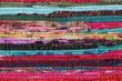 Recycling, handmade colorful ethnic motley retro rug, carpet - 74295568
