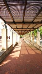 Pasillo de los jardines Atlanta de Barcelona