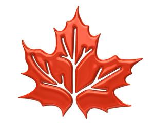 Orange maple leaf icon