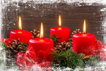 Adventkranz zu Weihnachten