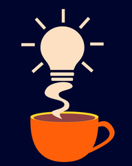 Energy charge. Cup of coffee