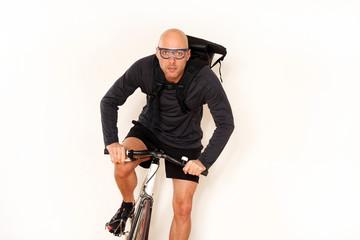 Fahrradkurier im Dienst