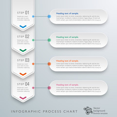 Infographics Vector Background Workflow