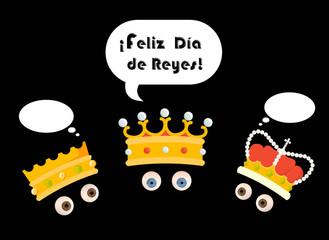 Tarjeta de felicitación, Reyes Magos, Melchor, Gaspar, Baltasar