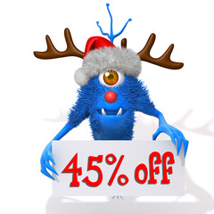 Monster christmas sale 45 percent discount