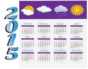 calendar 2015. Vector