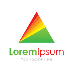 Triangle prism concept elements icon logo beautiful science