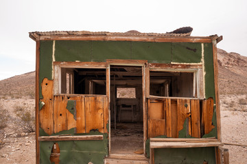 Primitive building still stands Rhyolite Ghost Town Nevada
