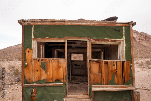 Primitive building still stands Rhyolite Ghost Town Nevada - 74298792