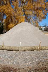 Erosion Control, Pile of Sand, Autumn Tree