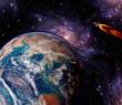 Space Earth Rocket Galaxy