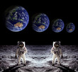 Astronauts Spaceman Moon Earth - 74299165