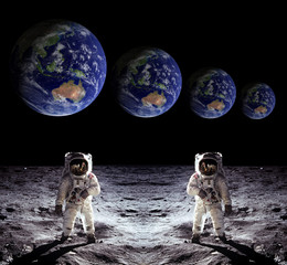 Astronauts Spaceman Moon Earth