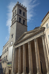 Church at Piazza del Comune with tower