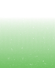A green vector halftone pattern with a grunge texture