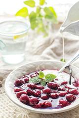 Danish jelly dessert with berries
