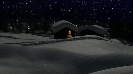 baite in alta montagna sotto la neve