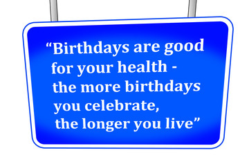 funny saying about birthdays