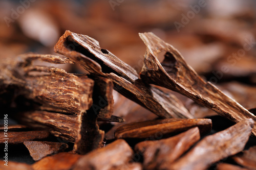 Leinwandbild Motiv In most Arab countries bukhoor is the name given to wood chips