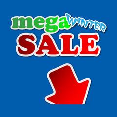 mega winter sale - information sign