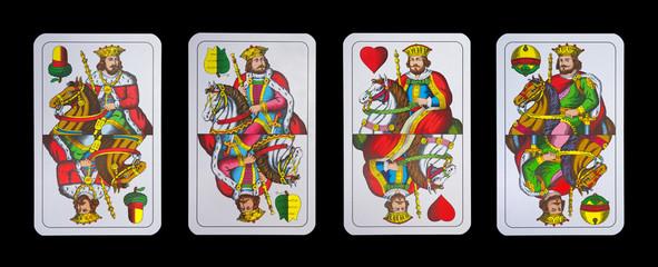 Spielkarten - Schnapskarten  KÖNIGE