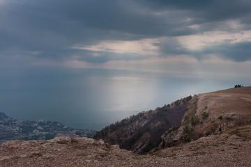 Ai-Petri Crimea landscape. View of Big Yalta
