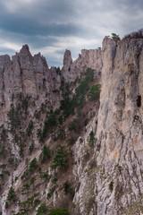 Ai-Petri peaks in Crimean mountains, 1234m