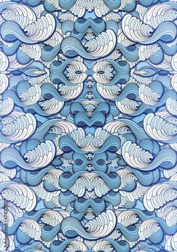 Foto Spatwand Abstract wave волна