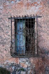 window with iron bars