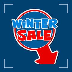 winter sale - information sign
