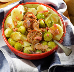 Brussels sproutsand potatoes