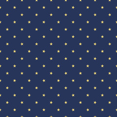 Seamless texture of blurred yellow spotted stars