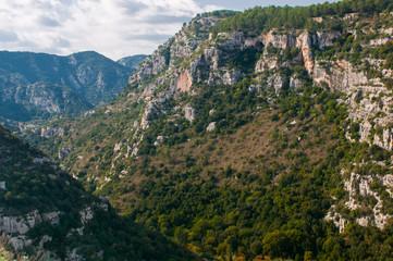 Pantalica's canyons