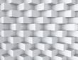 White geometric texture. 3d seamless background