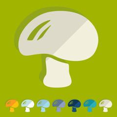 Flat design: mushroom
