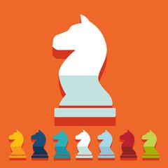 Flat design: chess