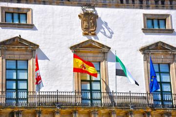 Ayuntamiento de Cáceres, gobierno municipal, bandera de España