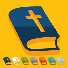 Flat design: bible