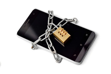 a chained smart phone