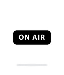 On air broadcasting icon on white background.