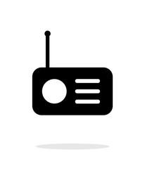 Radio icon on white background.