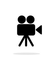 Camera icon on white background.