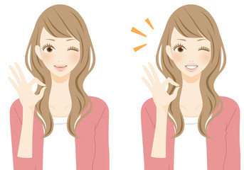 笑顔の女性 マル