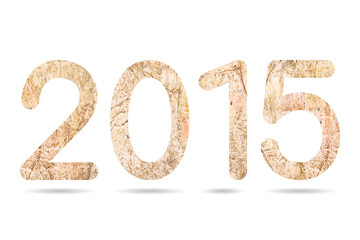 2015 numeric from old and dirty concrete texture