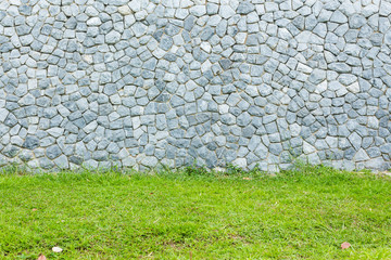 Grass with stone background
