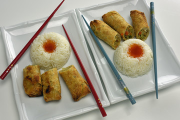 Egg Rolls With Rice