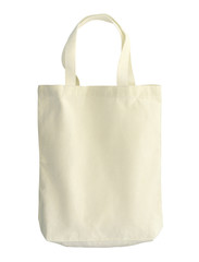 Cotton bag (with clipping path) isolated on white background